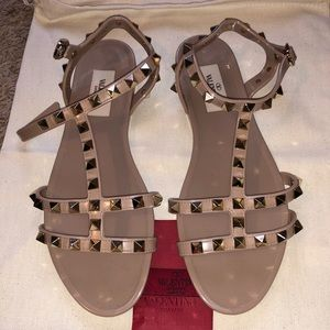 NWOT Valentino Rockstud Caged PVC Sandals